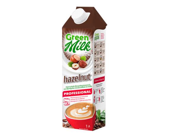 GreenMilk Professional растительное молоко из фундука на рисовой основе Hazelnut