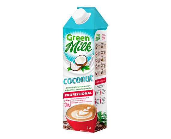 GreenMilk Professional кокосовый молоко на соевой основе Coconut