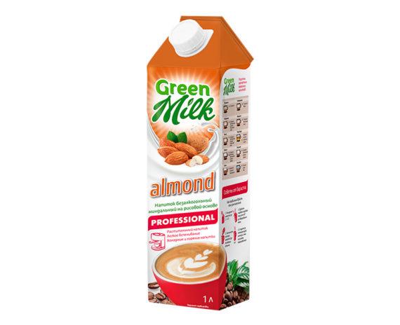 GreenMilk Professional рисовое молоко с миндалем Almond