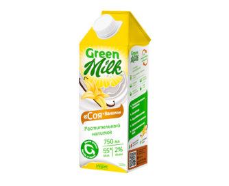 GreenMilk «Соя+ваниль» растительный напиток